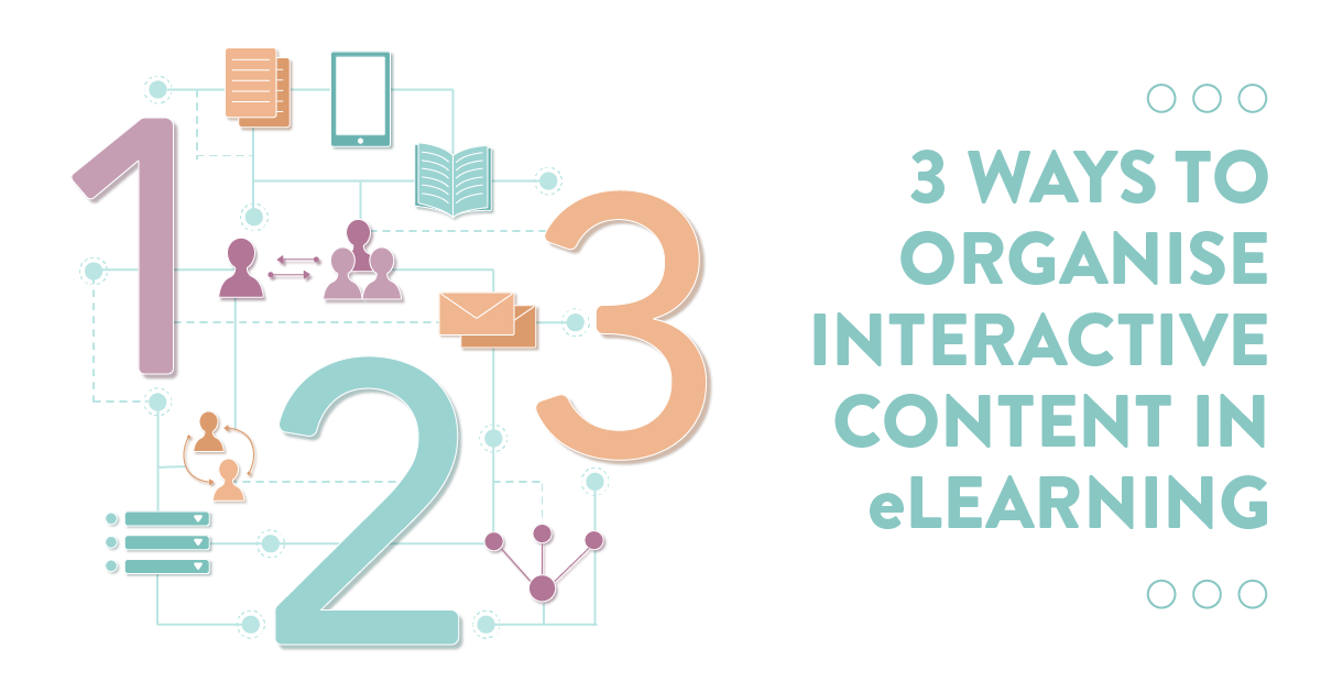 3 ways to organise interactive and content in eLearning